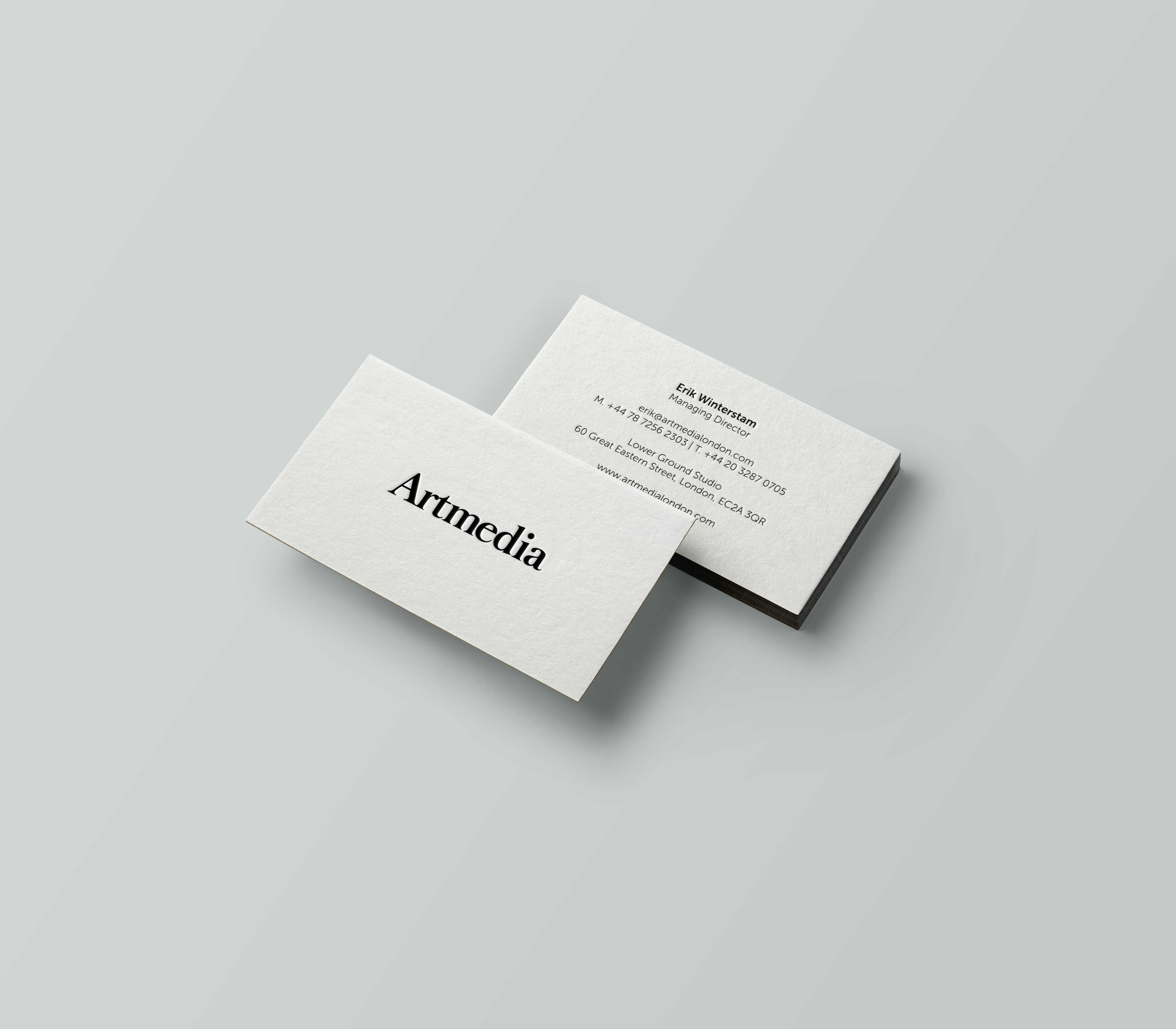 graphic artmedia business card